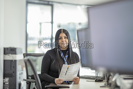 portrait of female apprentice service advisor