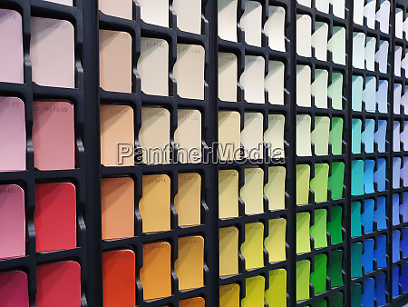 paint color samples in interior design