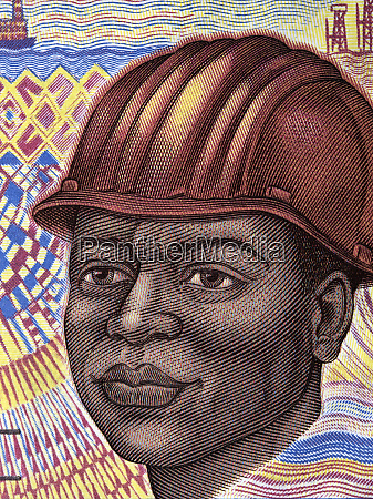 portrait of oil rig worker from
