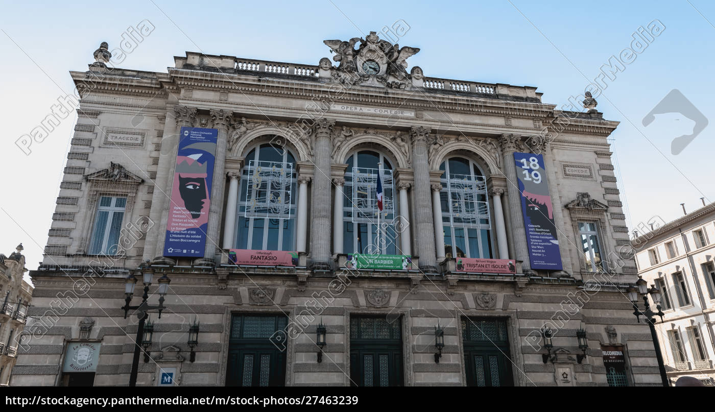 architectural, detail, of, the, montpellier, opera - 27463239