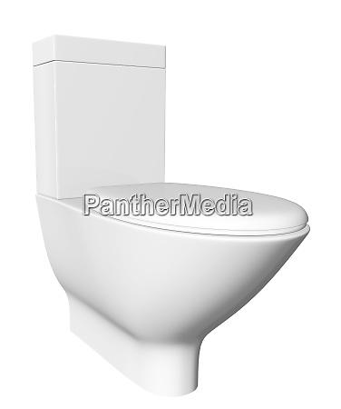 modern white ceramic and acrylic toilet