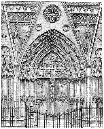 exterior woodwork of the choir of