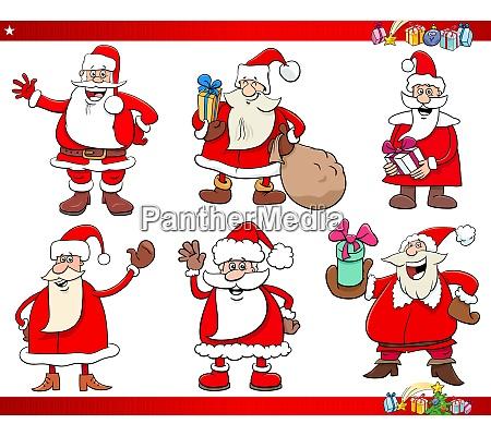 santa claus christmas holidays characters set