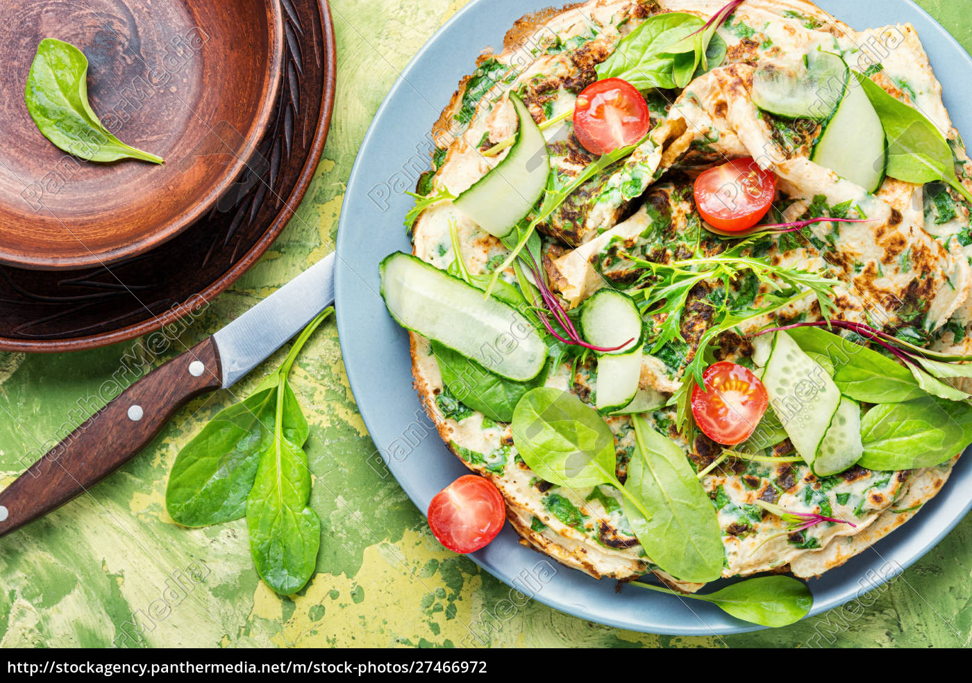 homemade, pancakes, with, herbs - 27466972