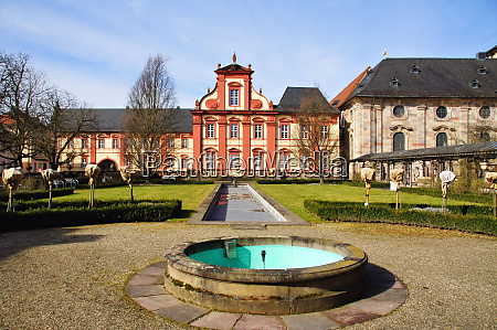 garden at fulda cathedral