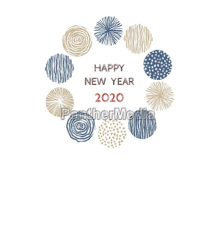 new year card with stylish scandinavian