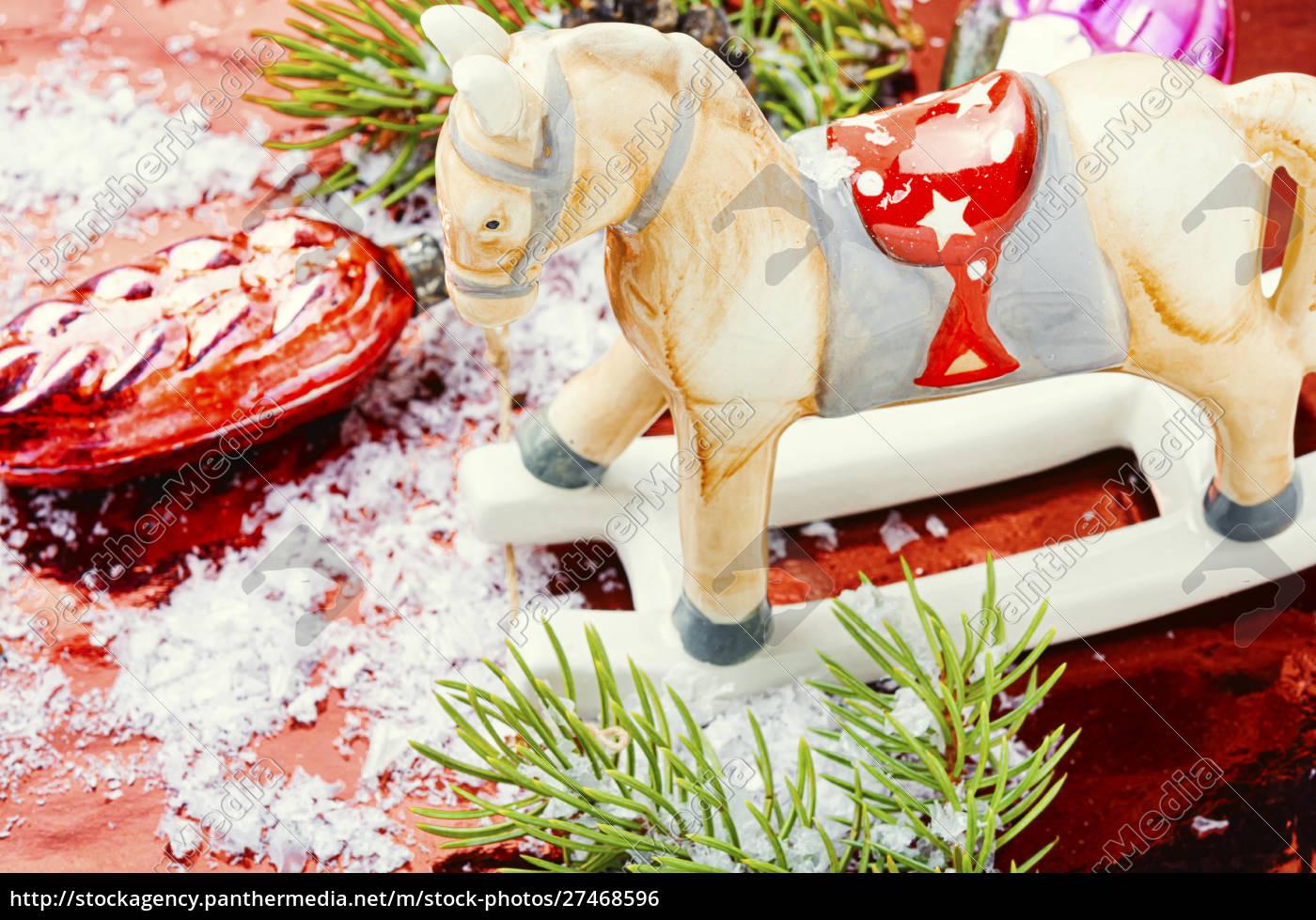 symbolic, christmas, horse - 27468596