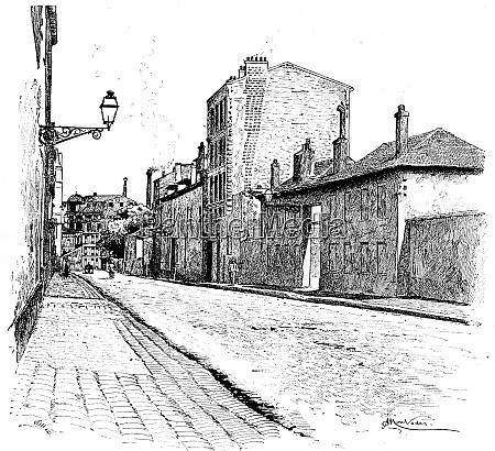 street of champ de alouette vintage