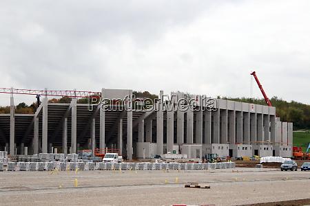 construction phase of new stadium sc