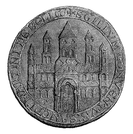 seal of battle abbey vintage engraving