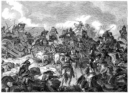 battle of borodino vintage engraving