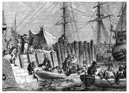 flushing evacuation by the british boarding