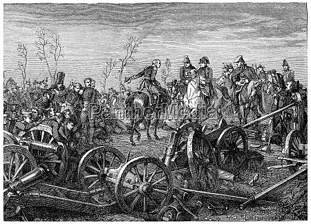 battle of montmirail vintage engraving