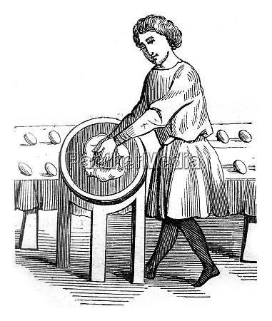 baker vintage engraving