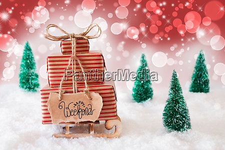 sled present snow merry christmas and