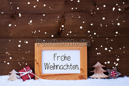 frame gift tree snowflakes frohe weihnachten