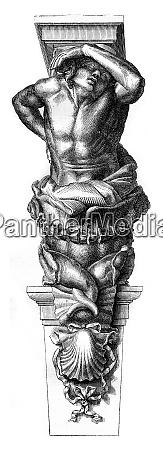 caryatids of the toulon city hall