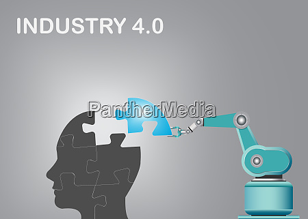 industry 40 abstraction vector