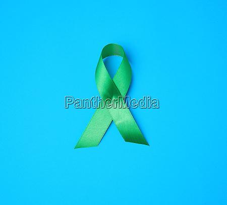 green ribbon as a symbol of