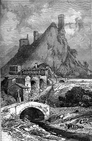 rochecolombe vintage engraving
