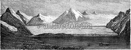 english bay vintage engraving
