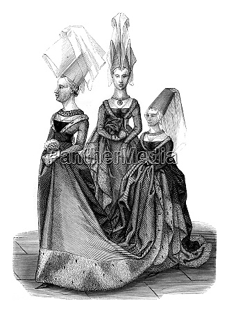 fifteenth century costumes in the reign