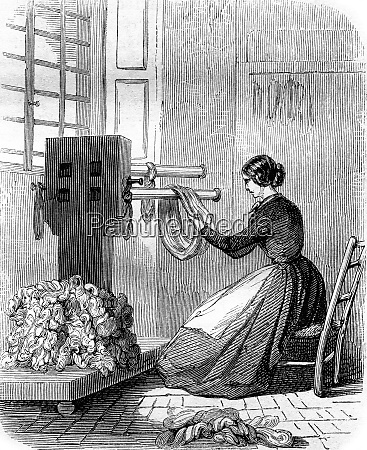 handling vintage engraving