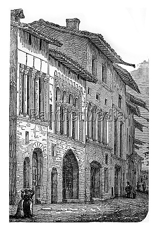 romanesque houses twelfth century in one