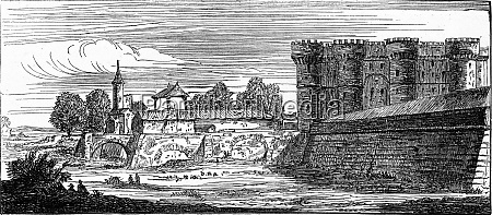 the bastille after an old engraving