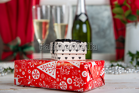 christmas gifts on the table
