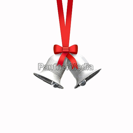 decorative red bow with vertical ribbon
