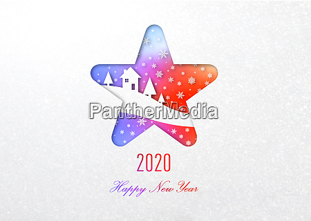 happy new year 2020 rainbow card