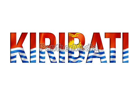 kiribati flag text font