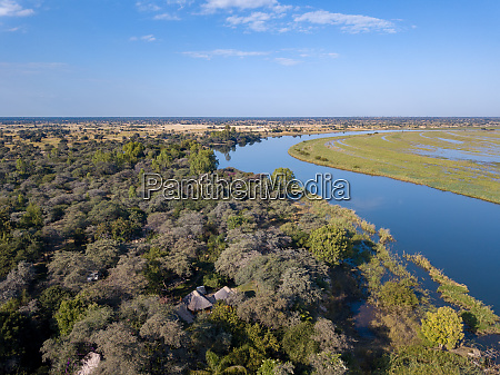 okavango delta river in north namibia