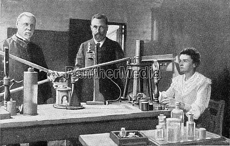mr and mrs curie in their