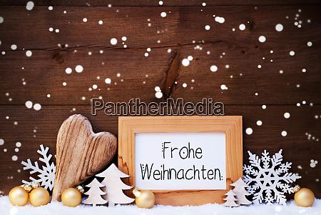 heart golden ball tree frohe weihnachten