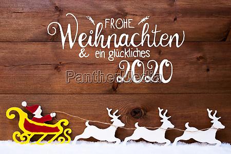 ornament snow sleigh reindeers satna glueckliches