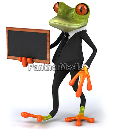 fun 3d green tropical frog with