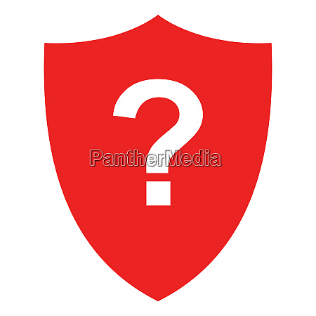 question mark and shield