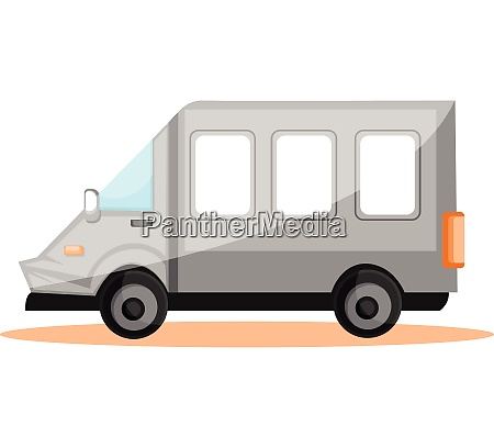 simple vector illustration of white transport