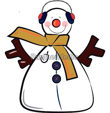 snowman with headgear vector or color