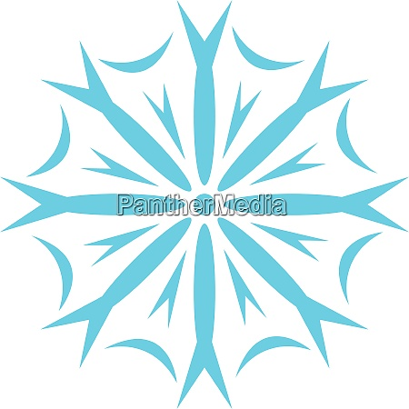 clipart of a snowflake vector or