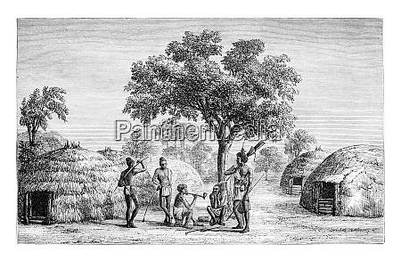 tribesmen of mandombe in congo central