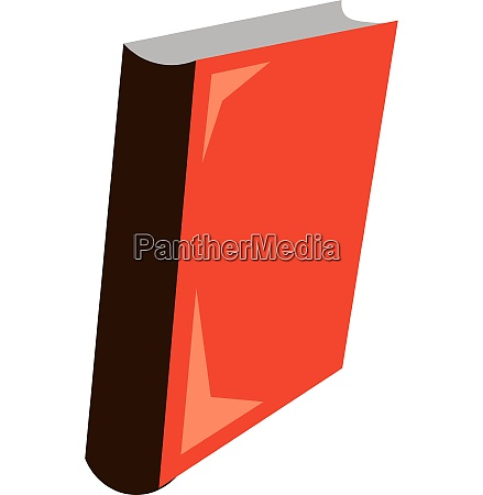 red book vector or color illustration