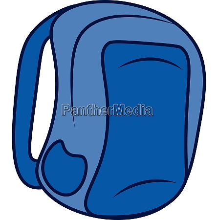 a blue backpack vector or color