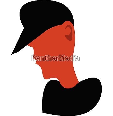 boy wearing black hat vector or