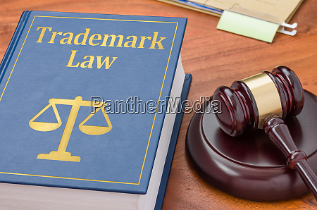 a law book with a gavel
