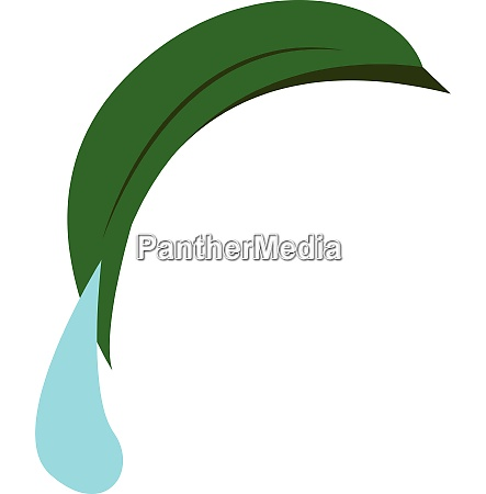 a dew drop falling vector or