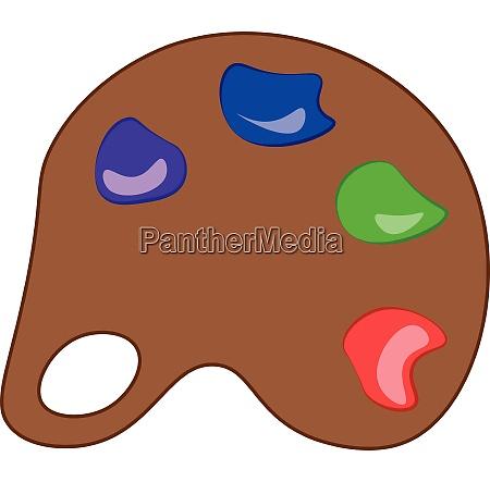 a palette vector or color illustration