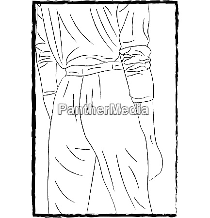 backside of trousers vector or color